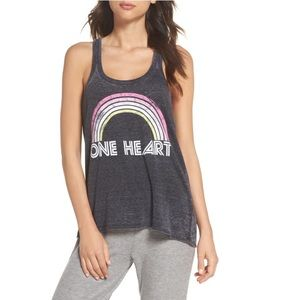 Chaser One Heart Racerback Tank Top